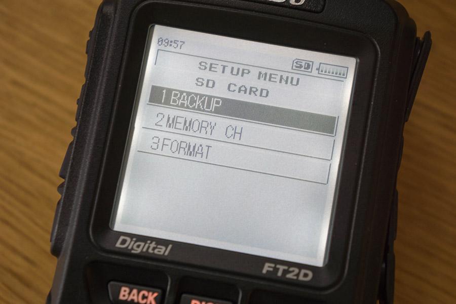 SM7UZY - Program the Yaesu FT-2DE from/to SD card